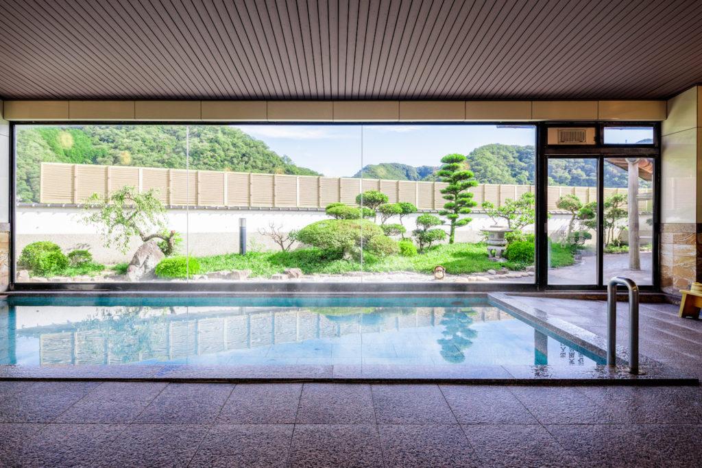 岡山の温泉旅館 季譜の里の男性大浴場